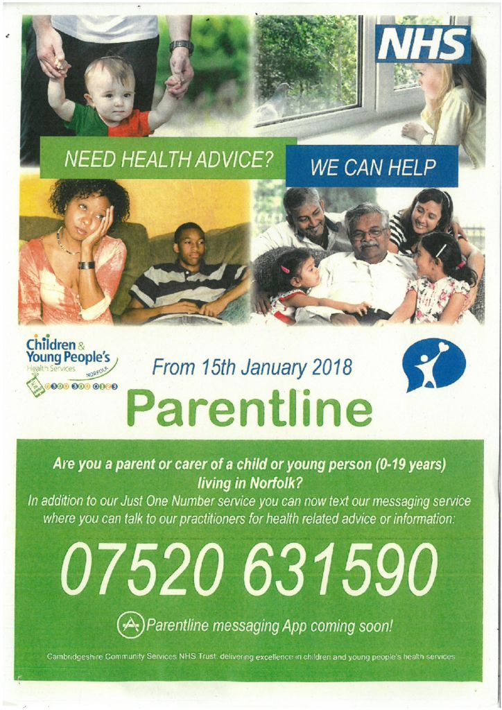 Parent Support : Dereham Church Infant and Nursery School
